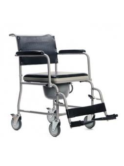 Wózek inwalidzki toaletowy z pojemnikiem