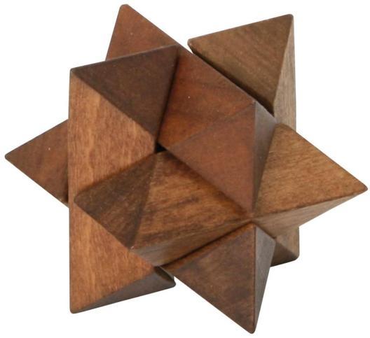 Łamigłówka puzzle drewniane gwiazda