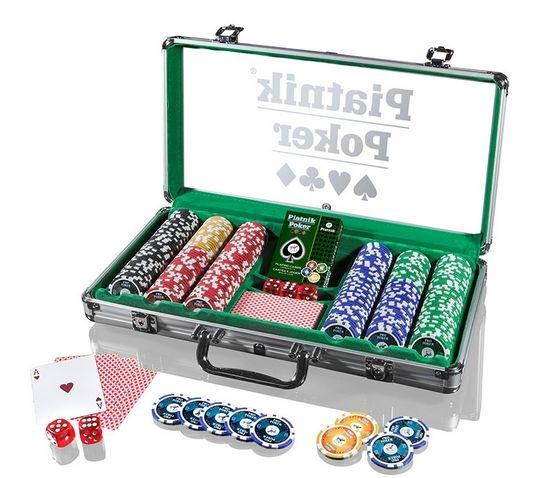 Piatnik Poker Alu Case - 300 żetonów