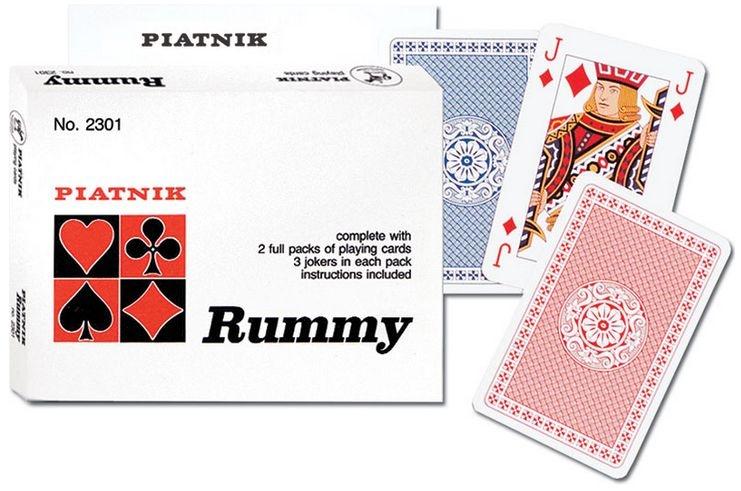 Karty do gry w Remika Piatnik 2 talie