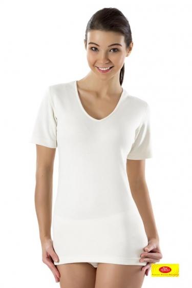 Koszulka damska z krótkim rękawem wełniana Pani Teresa