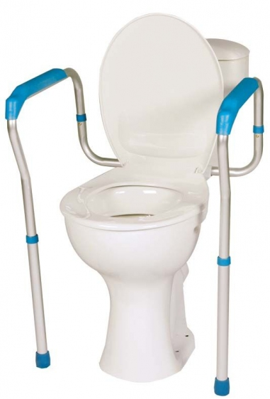 Rama na WC z dwiema poręczami