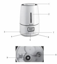 Ultradźwiękowy nawilżacz z jonizatorem Krokus TechMed