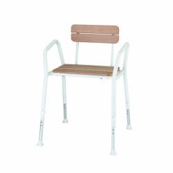 Krzesło prysznicowe drewniane