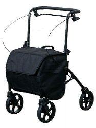 Wózek, podpórka rehabilitacyjna z torbą zakupową