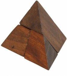 Łamigłówka puzzle drewniane piramida
