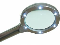 Lupa ręczna podświetlana Sagittarius 3x70mm