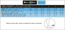 Podkolanówki przeciwżylakowe RelaxSan 70 DEN Basic