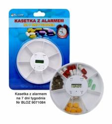 Tygodniowa kasetka na leki z alarmem KA-70