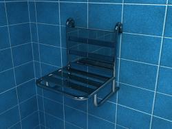Krzesło prysznicowe Z OPARCIEM zawieszane na poręczy PSP505