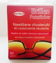 Chusteczki do okularów - 50 szt.