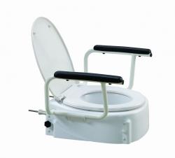 Nasadka toaletowa wysoka z poręczami i klapą