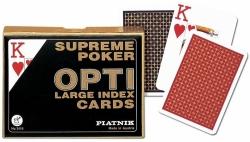 Karty Supreme Poker Opti Piatnik 2 talie