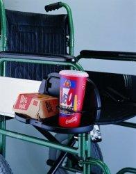 Półeczka na kubek i jedzenie do wózka inwalidzkiego