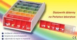 Kasetki na leki Anabox  Daily box - 7 sztuk