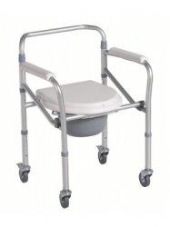 Krzesło toaletowe składane z kółkami
