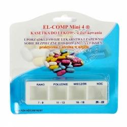 Kasetka na leki - dzienna (na 4 pory dnia)