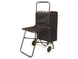 Wózek na zakupy z siedziskiem