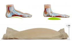 Pelota żelowa z opaską stopy na płaskostopie podłużne