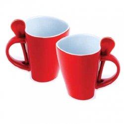 Kubki do kawy w kształcie serca – 2 sztuki