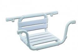 Aluminiowa ławeczka na wannę z oparciem