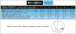 Pończochy do paska RelaxSan 280 DEN (22-27 mmHg)