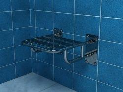 Krzesło prysznicowe uchylne z podporami PSP501