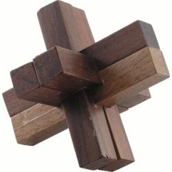 Łamigłówka puzzle drewniane krzyż