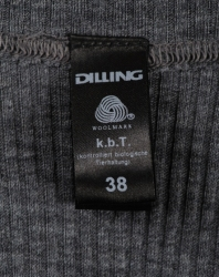 Koszulka na szerokich ramiączkach prążkowany splot DILLING