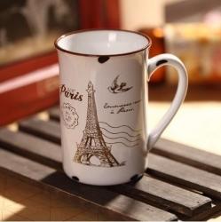 Kubek porcelanowy retro - Paryż