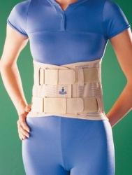 Orteza kręgosłupa z wkładką silikonową i podwójnym zapięciem Oppo