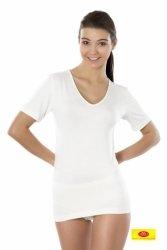 Koszulka damska krótki rękaw Pani Teresa 95% BAMBUS