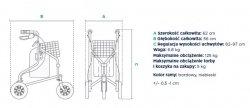 Chodzik trójkołowy aluminiowy TGR-R RTA 891L