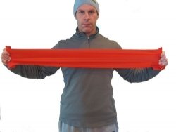 Taśma do rehabilitacji – różowa, czerwona, niebieska