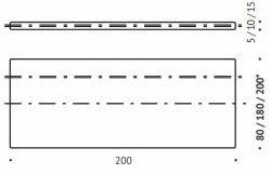 Nakładka memory na materac B95 Valde