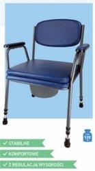 Krzesło toaletowe tapicerowane z regulacją wysokości