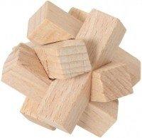 Łamigłówka puzzle drewniane węzeł