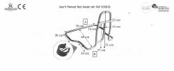 Barierka jednostronna, poręcz do łóżka
