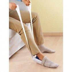 Przyrząd do zakładania skarpet - elastyczny
