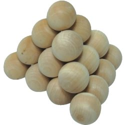 Łamigłówka puzzle drewniane piramida - kulki