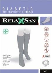 Podkolanówki dla diabetyków ze srebrem RelaxSan