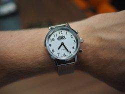 Mówiący zegarek stalowa bransoleta