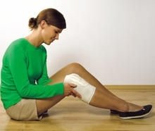 Opaski na kolana rozgrzewające z filcem