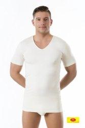 Koszulka męska krótki rękaw Pani Teresa 95% BAMBUS