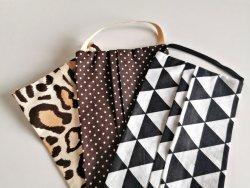 Maseczka bawełniana - różne wzory