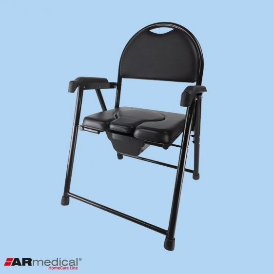 Krzesło toaletowe tapicerowane składane AR-102