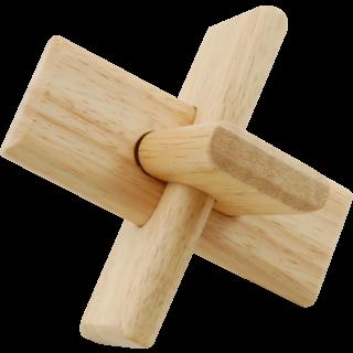 Mini łamigłówka drewniana 3D Krzyż