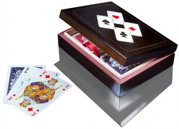 Karty LUX w szkatułce z asami Piatnik