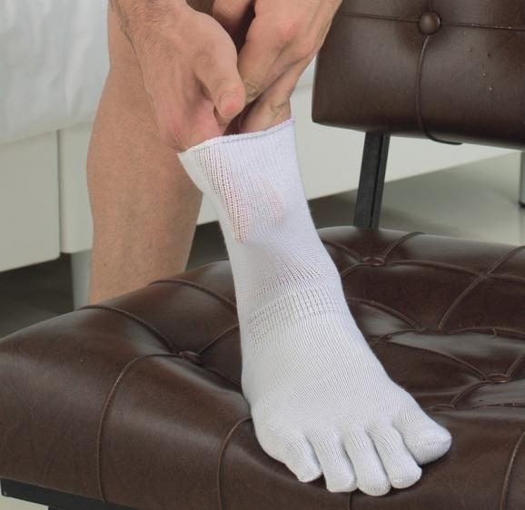 Skarpety pięciopalcowe dla diabetyków ze srebrem RelaxSan