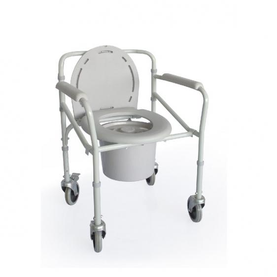 Krzesło toaletowe składane na kółkach TGR-R KT 023C